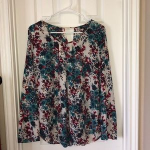 Gently worn Papermoon floral blouse